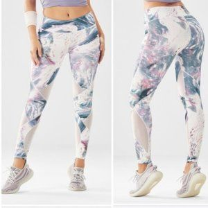 Fabletics High Waisted Marbled Full length legging